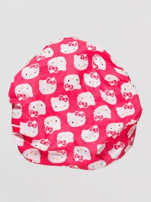 Пов'язка рожева в принт | 4514011