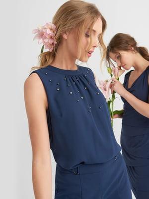 Блуза синяя | 4520457
