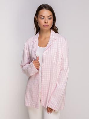 Сорочка рожева в клітинку | 4506859