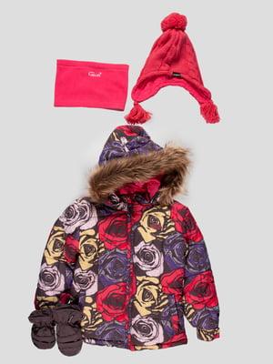 Комплект: куртка, шапка, шарф-снуд та рукавиці | 4545920