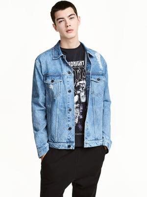 Куртка голубая джинсовая | 4555925