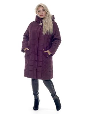 Пальто вишневого цвета | 3750814