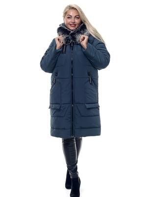 Пальто синее | 3750833