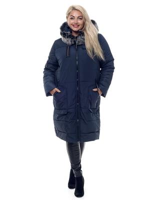 Пальто темно-синее | 3750839