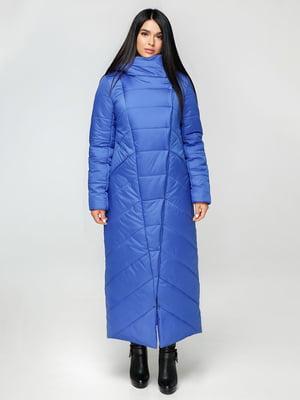 Пальто кольору електрик   4531170