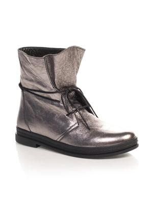 Ботинки серебристые   4567426
