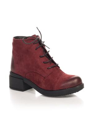 Ботинки бордовые | 4567417