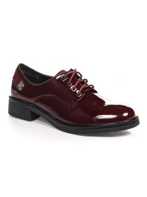 Туфлі бордові | 4573565