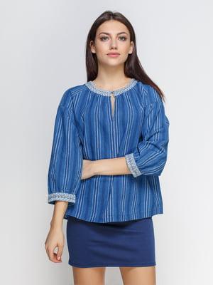 Блуза синяя | 4506398