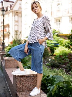 Кюлоти сині джинсові | 3010056