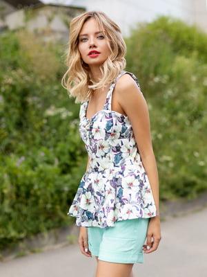Блуза в квітковий принт | 3255696