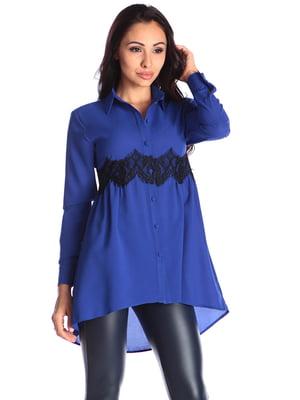 Блуза цвета электрик   4579742
