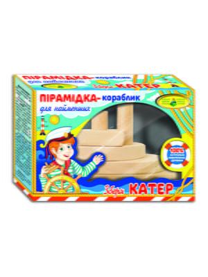 Дерев'яна пірамідка-кораблик «Катер» | 4578785