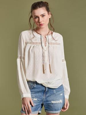 Блуза цвета айвори | 4581277