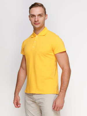 Футболка-поло желтая | 4578323