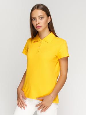 Футболка-поло желтая | 4578319