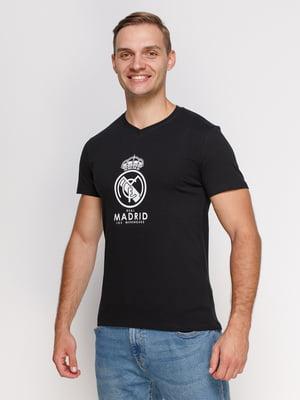Футболка чорна з принтом | 4577918