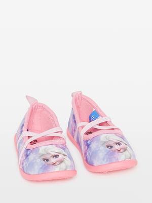 Тапочки розовые с принтом | 4581693