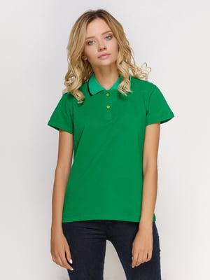 Футболка-поло зеленая | 4578317