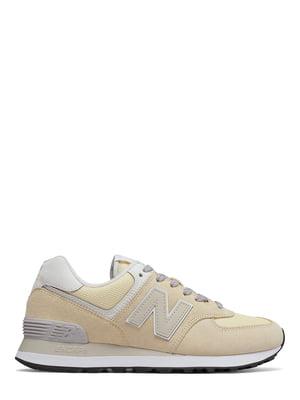 Кроссовки бежевые New Balance 574 | 4579128