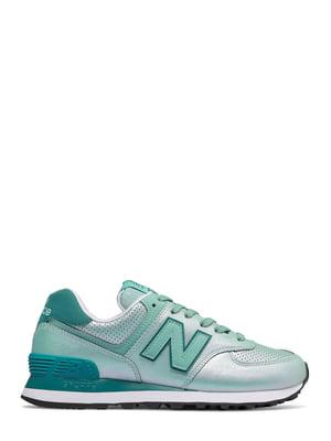 Кроссовки зелено-бирюзовые New Balance 574 | 4579133