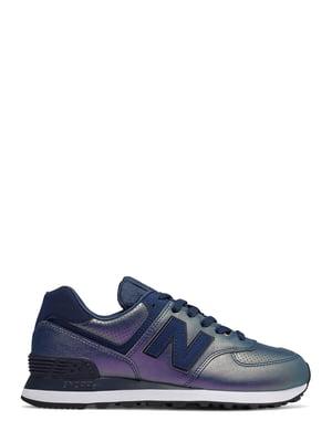 Кросівки синьо-фіолетові New Balance 574  aa2f2793f5553
