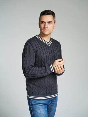 Пуловер серый | 4585869