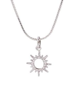 Кулон на серебряной цепочке «Солнце малое»   4588788