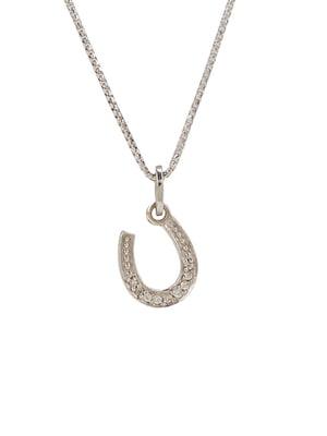 Кулон на серебряной цепочке «Подкова малая»   4588849