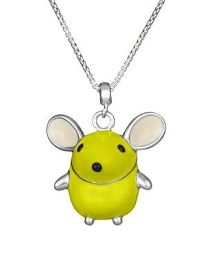 Кулон на серебряной цепочке «Мышка»   4588702