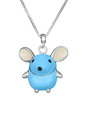 Кулон на серебряной цепочке «Мышка»   4588703