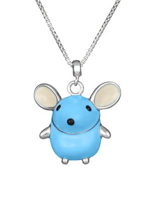 Кулон на серебряной цепочке «Мышка»   4588712