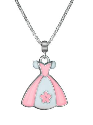 Кулон на серебряной цепочке «Платье»   4588733