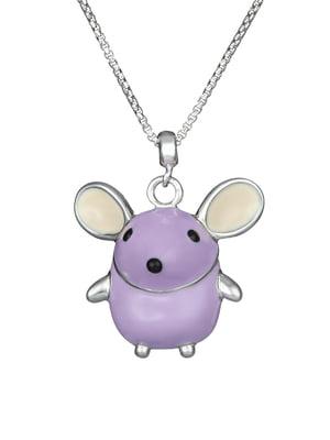 Кулон на серебряной цепочке «Мышка»   4588738