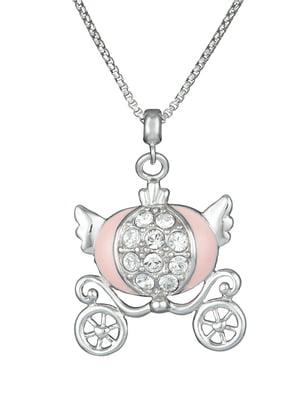 Кулон на серебряной цепочке «Карета»   4588754