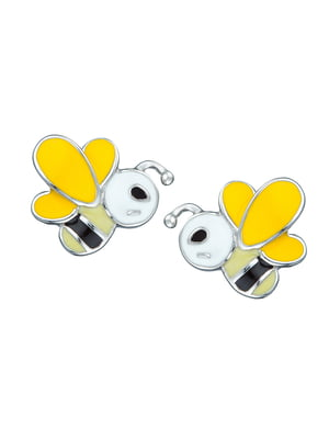 Серьги-пусеты «Пчела»   4588801