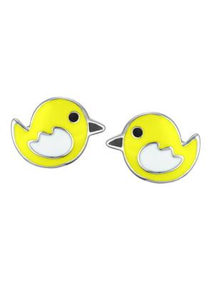 Серьги-пусеты «Птичка»   4588803