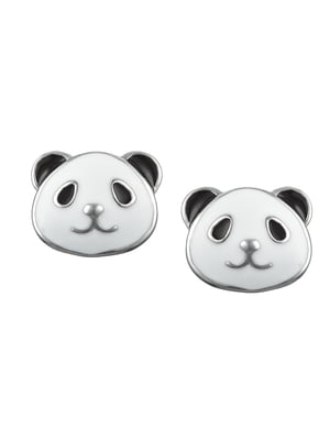 Серьги-пусеты «Панда»   4588806