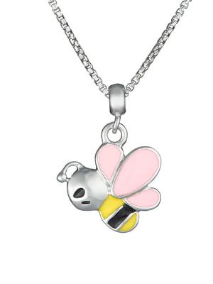 Кулон на серебряной цепочке «Пчела»   4588858