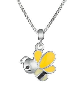 Кулон на серебряной цепочке «Пчела»   4588863