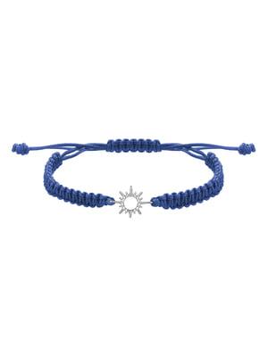 Браслет плетеный с серебряным украшением «Солнце малое»   4588901