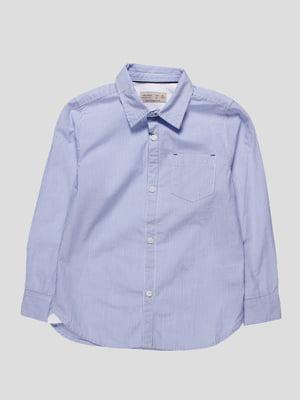 Сорочка синя в смужку | 4529714
