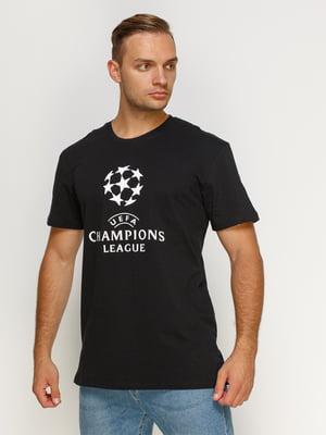Футболка чорна з принтом | 4577907