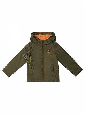 Куртка кольору хакі | 4427851