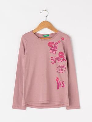 Лонгслів рожевий | 4427900