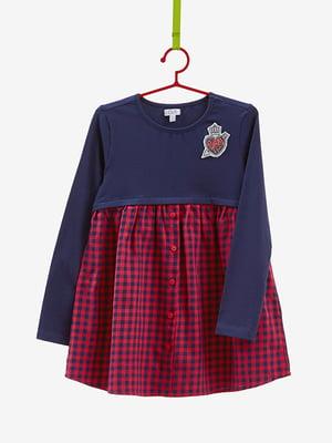 Сукня синьо-червона | 4581763