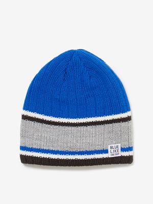 Шапка синьо-сіра   4581785