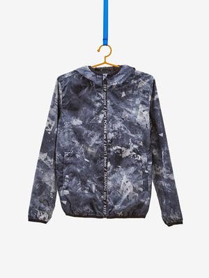 Куртка сіра в принт | 4581932