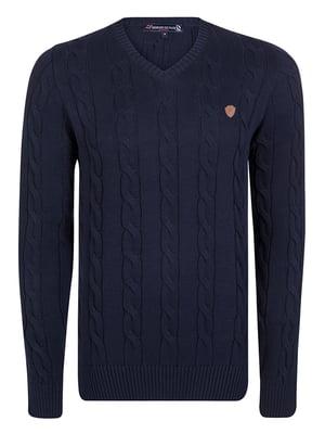 Пуловер темно-синий | 4489247