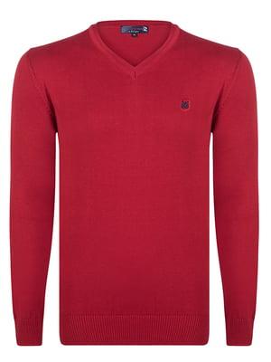 Пуловер бордовый   4489267
